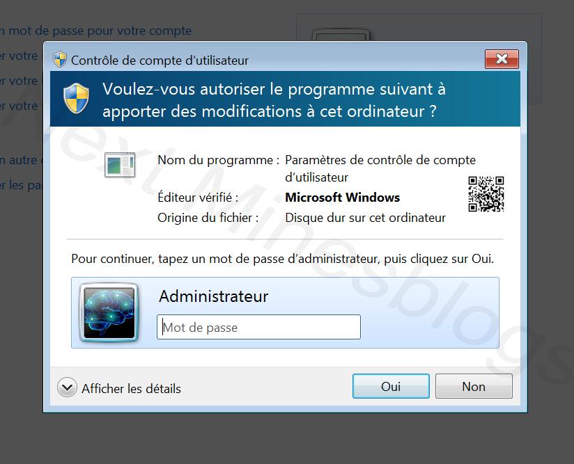 compte uac windows 10